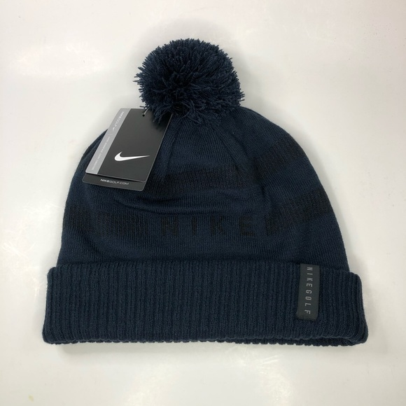Nike Golf Beanie Reversible Removable Pom